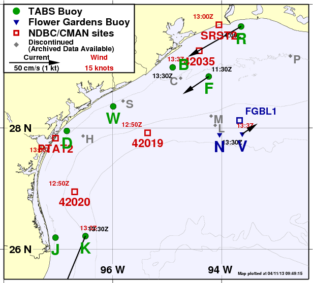 Buoy Map - You may also select buoys below